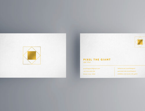 White/gold business card mockups – 10 views
