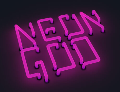 Font: Neon God – capital letters
